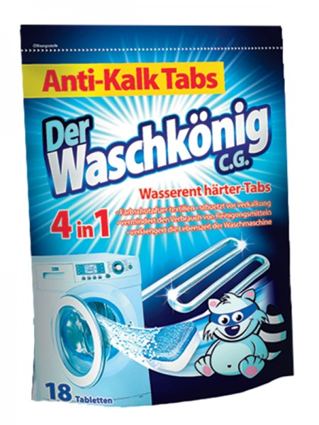 Der Waschkönig Таблетки для удаления накипи - 18 шт.